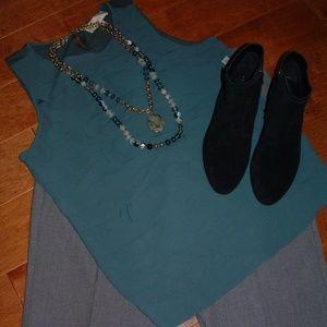 Loft Size XL Spruce Green Sleeveless Top NWT